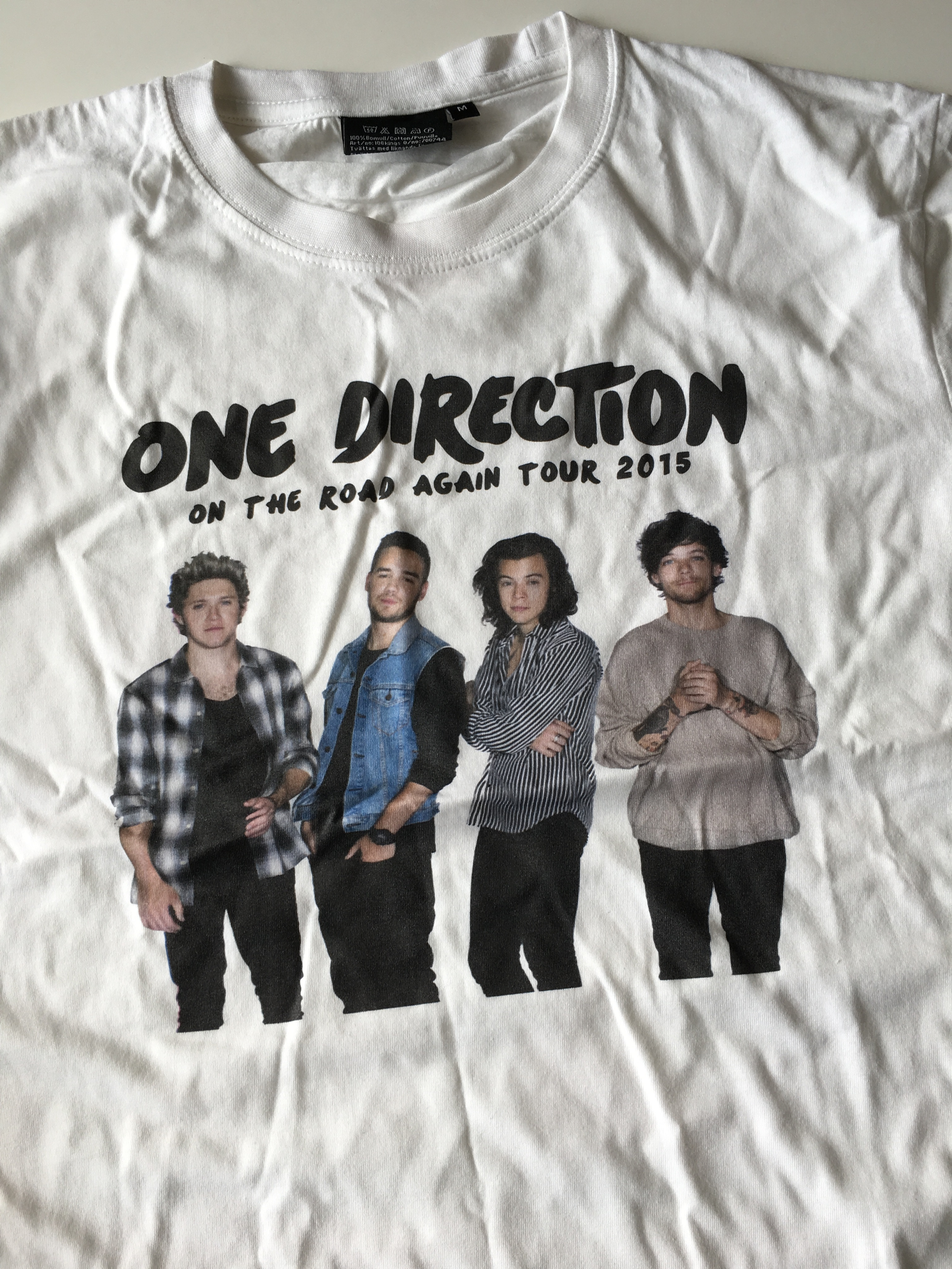 One Direction t-shirt i välgörenhetsauktion