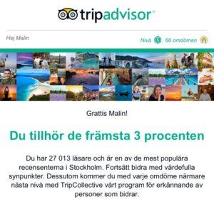 Topresencent på Tripadvisor