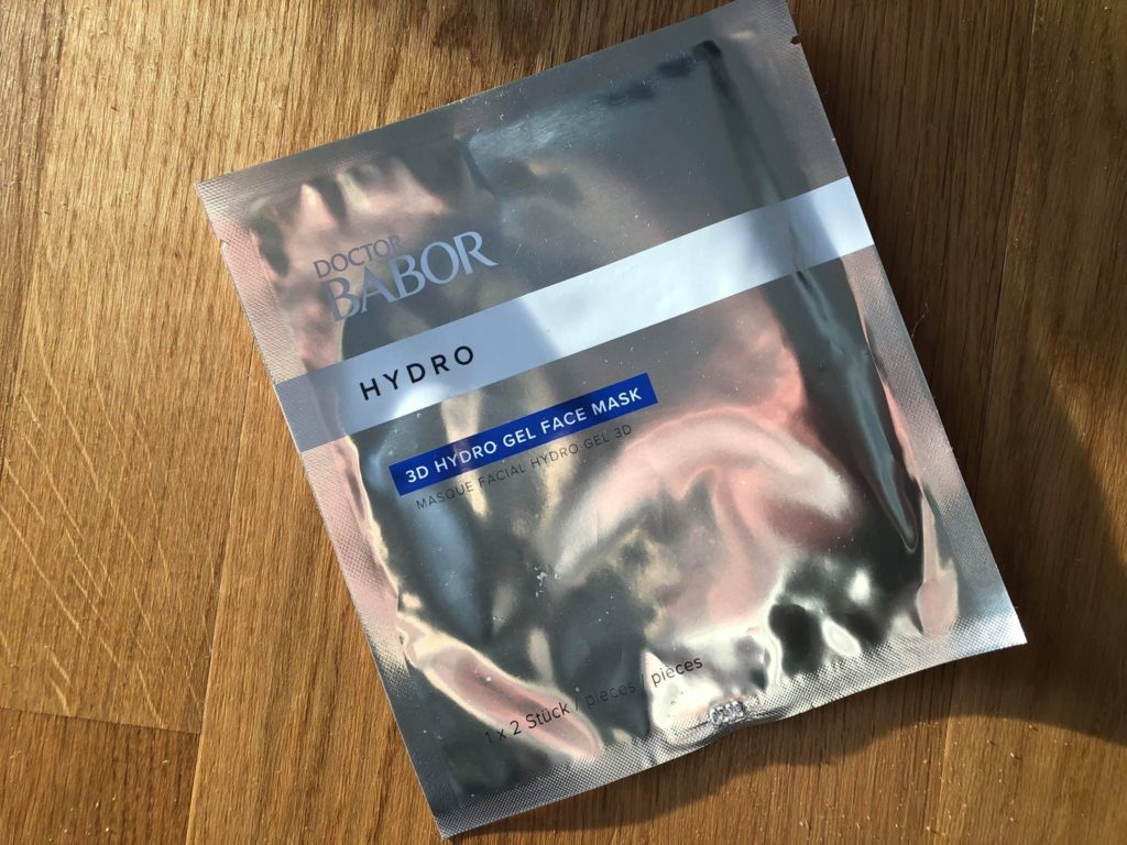 3d hydrogel face mask