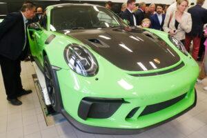 Grön Porsche