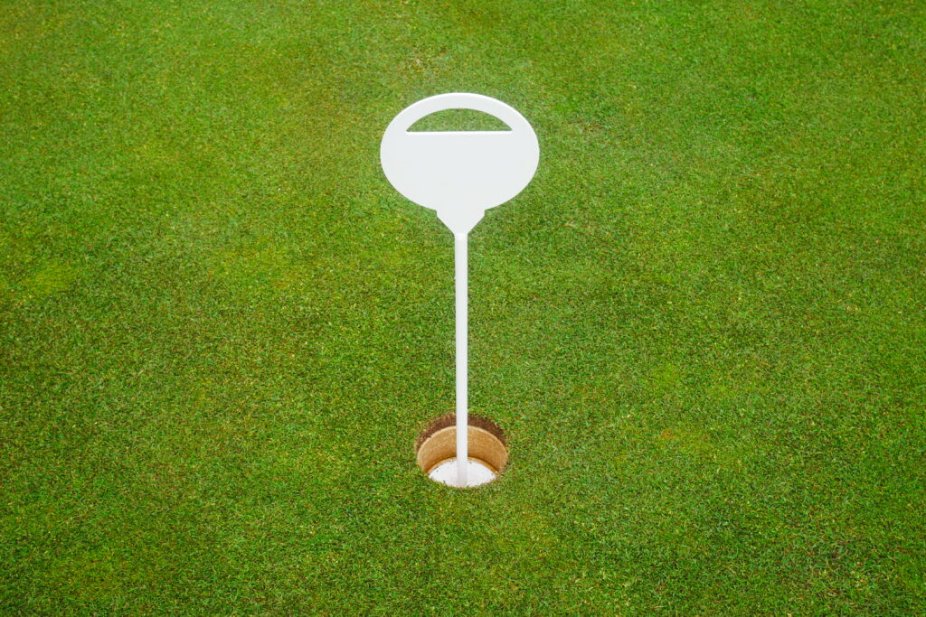Öva golf putt